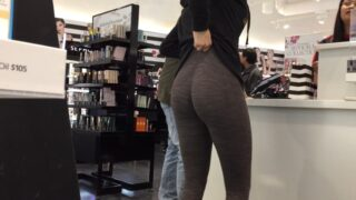 Candid MILF Round Ass In Leggings