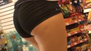 Spandex Shorts Girl Candid Booty